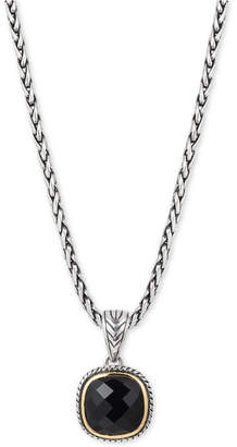 Effy Eclipse by Onyx Pendant Necklace in Sterling Silver & 18k Gold