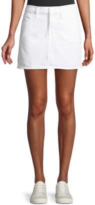 Frame Le Mini Straight Denim Skirt