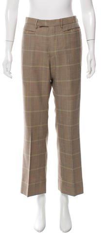 Prada Virgin Wool Houndstooth Pants