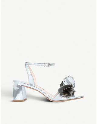 Sophia Webster Soleil holographic leather heeled sandals