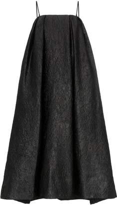 Simone Rocha crinkle effect sleeveless midi dress