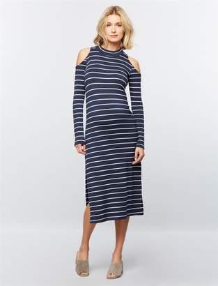 Splendid Pea Collection Cold Shoulder Maternity Dress