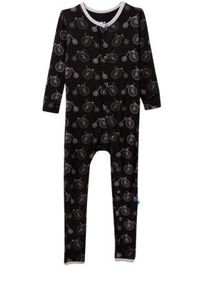 Kickee Pants Print Coverall in Midnight Bikes (Baby, Toddler, Little Boys, & Big Boys)
