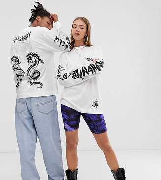 Collusion COLLUSION Unisex long sleeve t-shirt with placement print