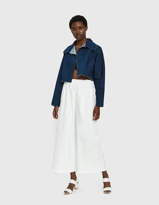 Ashley Rowe Long Denim Pant in White