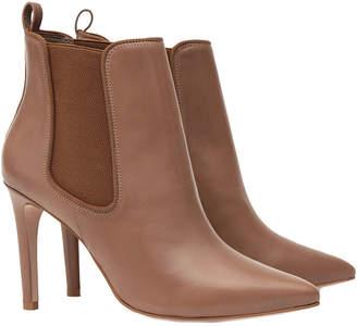 Reiss Raimonda Leather Ankle Boot