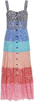 Saloni Karen Printed Silk Midi Dress