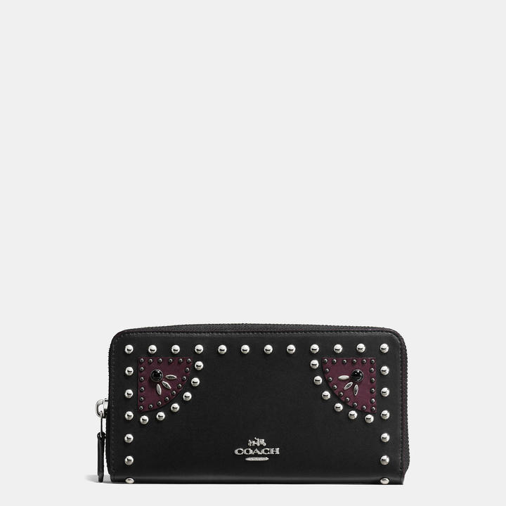 Coach  COACH Coach Western Rivets Accordion Zip Wallet In Glovetanned Leather