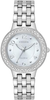 Citizen Eco-Drive Women's Silhouette Crystal Stainless Steel Watch - FE2080-56L