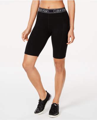 Calvin Klein Logo-Waistband Bike Shorts