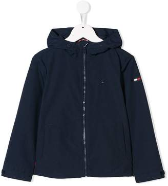 Tommy Hilfiger Junior hooded logo jacket