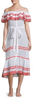 Lisa Marie Fernandez Mira Off-the-Shoulder Dress $1,225 thestylecure.com