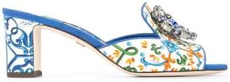 Dolce & Gabbana floral print sandals