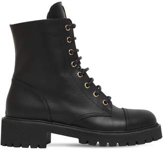 Giuseppe Zanotti Design 45mm Leather Combat Boots