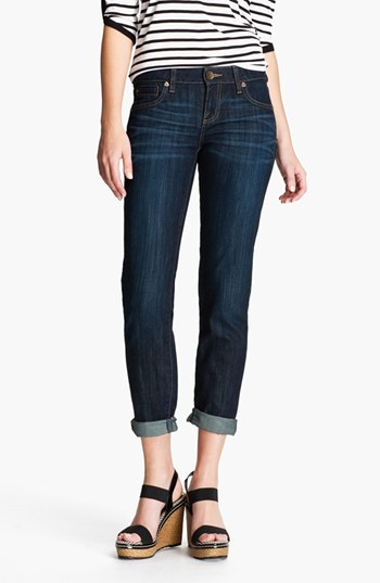 KUT from the Kloth 'Catherine' Slim Boyfriend Jeans (Royal) (Regular & Petite)