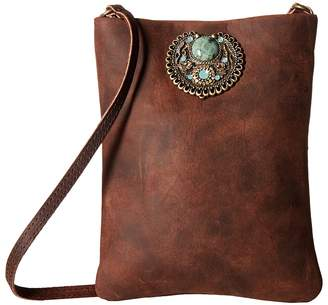 Leather Rock Faith Cell Pouch/Crossbody Cross Body Handbags