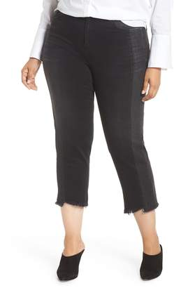 Marina Rinaldi ASHLEY GRAHAM X Idrovoro Step Hem Crop Jeans