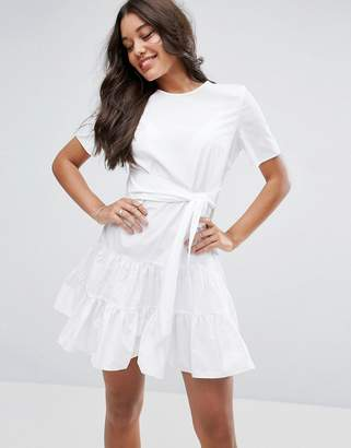ASOS Tiered Cotton Mini Dress $56 thestylecure.com