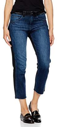 Madison Denim Women's Crosby Straight Leg Crop Jean Two Tone
