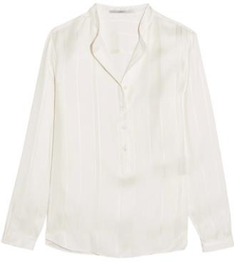 Stella McCartney - Eva Embroidered Silk Blouse - Cream $765 thestylecure.com