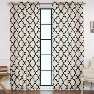 Laurèl Foundry Modern Farmhouse Eldred Moroccan Tile Curtain Panels