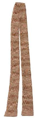 Missoni Pattern Knit Scarf Brown Pattern Knit Scarf