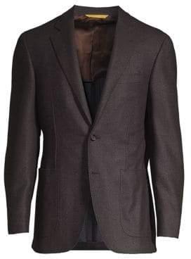 Canali Chevron Wool Sportcoat