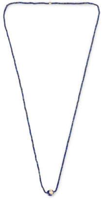 Luis Morais Gold, Lapis and Enamel Necklace - Men - Blue