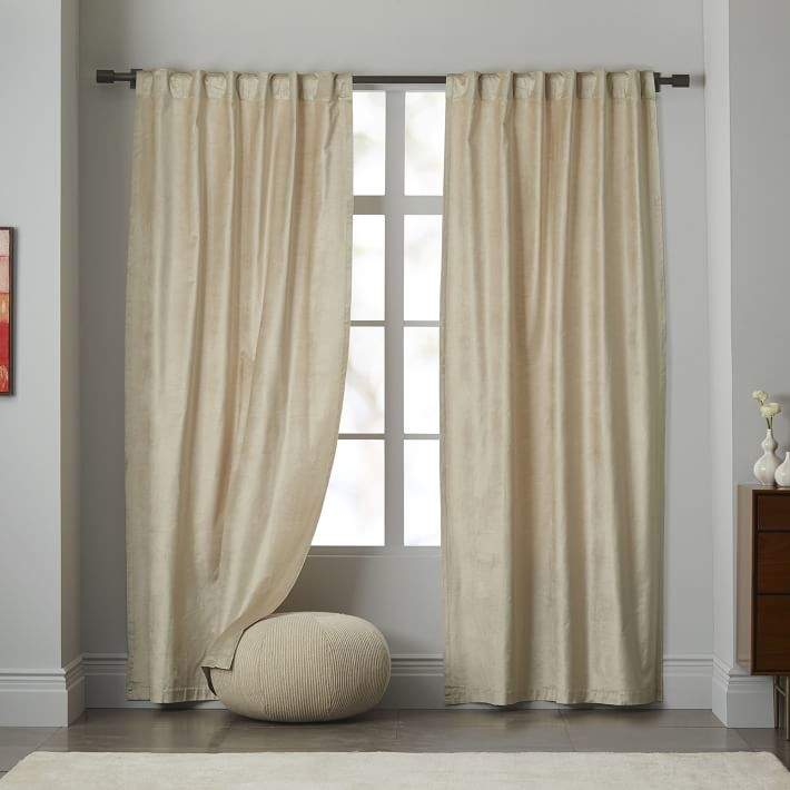 Luster Velvet Curtain - Individual