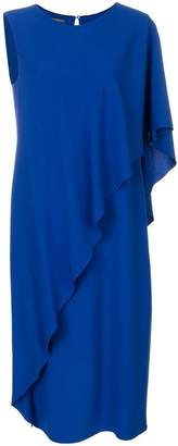 Alberta Ferretti ruffled front dress