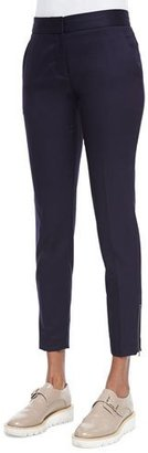 Stella McCartney Vivian Skinny Suiting Zip-Cuff Ankle Pants $600 thestylecure.com