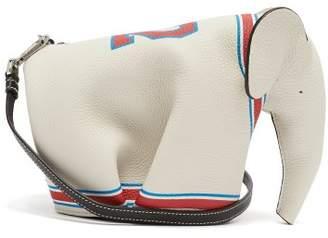 Loewe Elephant Leather Cross Body Bag - Mens - White