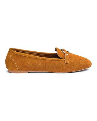Cassandra Simply Be Suede Loafer Extra Wide Fit
