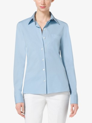 Michael Kors Cotton-Poplin Button-Down Shirt