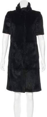 Jenni Kayne Knee-Length Rabbit Fur Coat