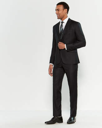 Roberto Cavalli Two-Piece Black Pinstripe Suit