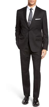 JB BRITCHES Notch Lapel Two Button Classic Fit Solid Wool Suit $595 thestylecure.com