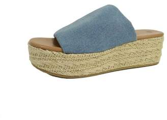 Big Buddha Women's Denim Flatform Sandal