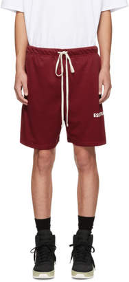 Essentials Red Mesh Logo Shorts
