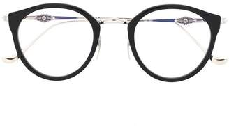 Chrome Hearts round frame glasses