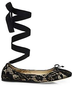 Saks Fifth Avenue Women's Lace Ankle-Wrap Ballet Flats