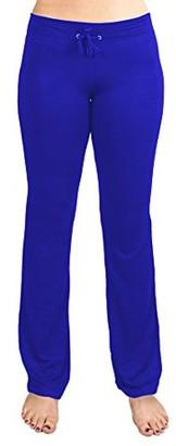 Crown Sporting Goods Soft & Comfy Yoga Pants, 95% Cotton/5% Spandex, Blue M