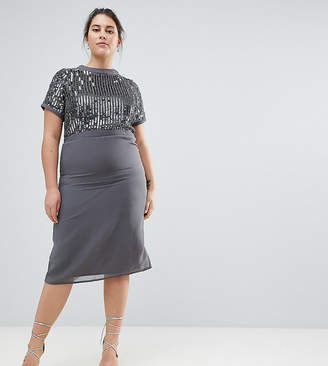 Lovedrobe Luxe Plus Lovedrobe Luxe Embellished Pencil Dress