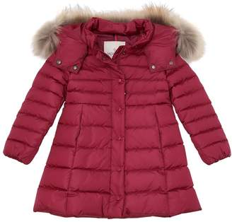 Moncler New Neste W/ Fur Nylon Down Jacket