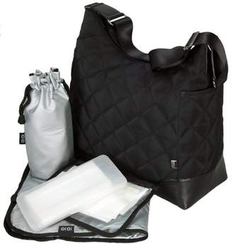 OiOi Hobo Diaper Bag - Black Diamond Quilt