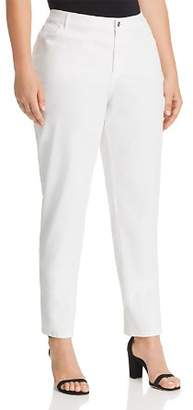 Lafayette 148 New York Plus Curvy Slim Leg Jeans in White