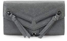 Trigger Flap Leather Continental Wallet