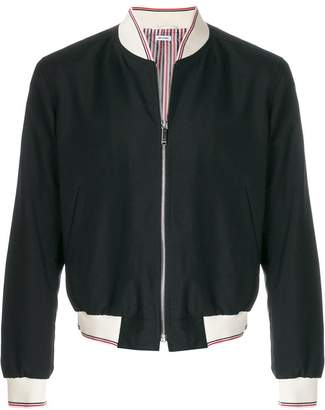Thom Browne long sleeve bomber jacket