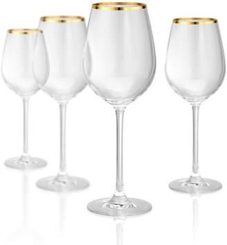 Artland Gold Band White 15 oz Wine Glass