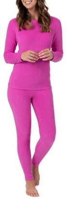 Fruit of the Loom Women's and Women's Plus Stretch Fleece Thermal Top and Pant Set